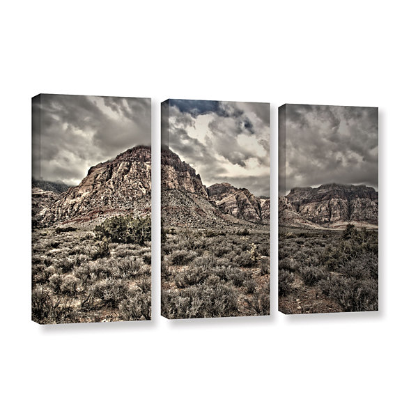 Brushstone No Distractions 3-pc. Gallery Wrapped Canvas Wall Art