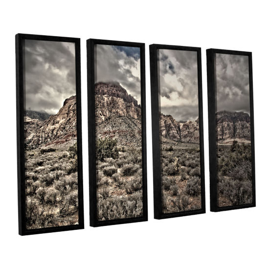 Brushstone No Distractions 4-pc. Floater Framed Canvas Wall Art