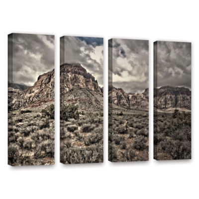Brushstone No Distractions 4-pc. Gallery Wrapped Canvas Wall Art