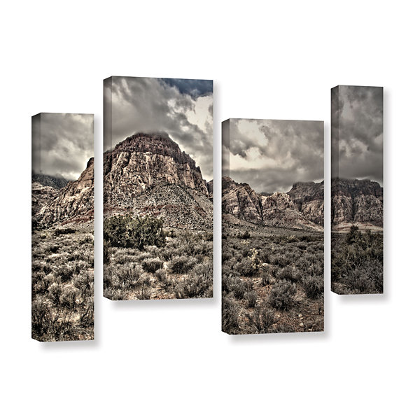Brushstone No Distractions 4-pc. Gallery Wrapped Staggered Canvas Wall Art