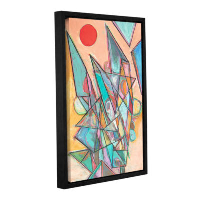 Brushstone Noontime Gallery Wrapped Floater-FramedCanvas Wall Art