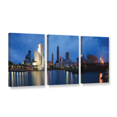 Brushstone North Coast Harbour 3-pc. Gallery Wrapped Canvas Wall Art