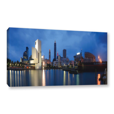 Brushstone North Coast Harbour Gallery Wrapped Canvas Wall Art