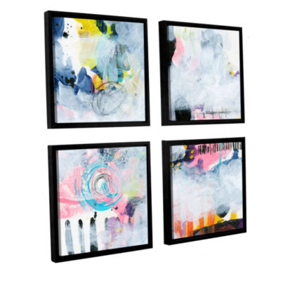 Brushstone Northern Exposure 1 4-pc. Square Floater Framed Canvas Wall Art