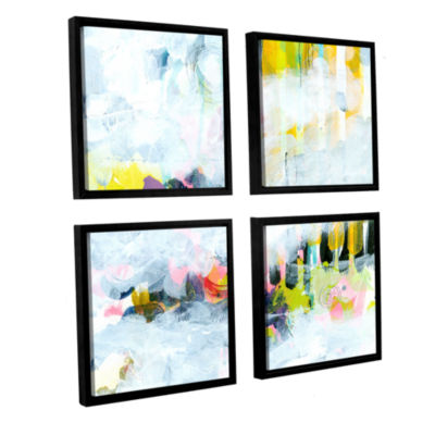 Brushstone Northern Exposure 2 4-pc. Square Floater Framed Canvas Wall Art