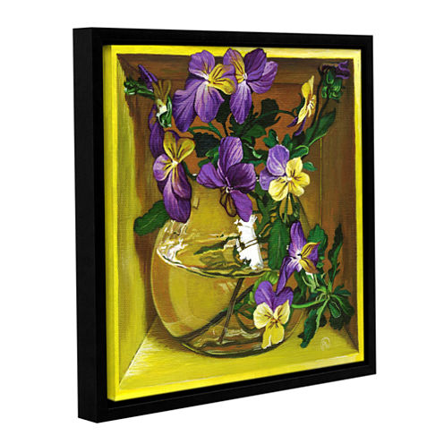 Brushstone Not So Shy Gallery Wrapped Floater-Framed Canvas Wall Art
