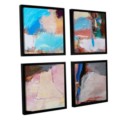Brushstone Nothing Of Everything 4-pc. Square Floater Framed Canvas Wall Art