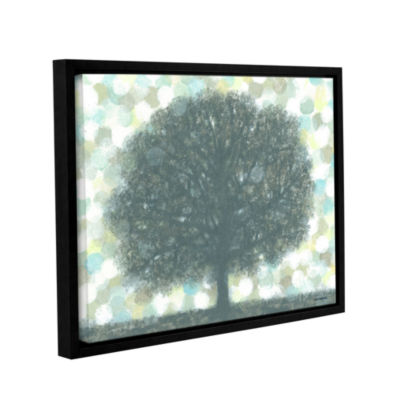Brushstone November Pearls Gallery Wrapped Floater-Framed Canvas Wall Art
