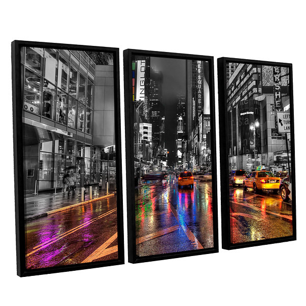 Brushstone NYC 3-pc. Floater Framed Canvas Wall Art
