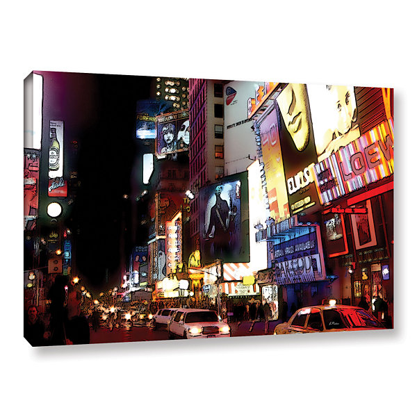 Brushstone NYC Bright Lights Broadway Gallery Wrapped Canvas Wall Art