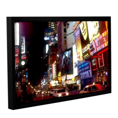Brushstone NYC Bright Lights Broadway Gallery Wrapped Floater-Framed Canvas Wall Art