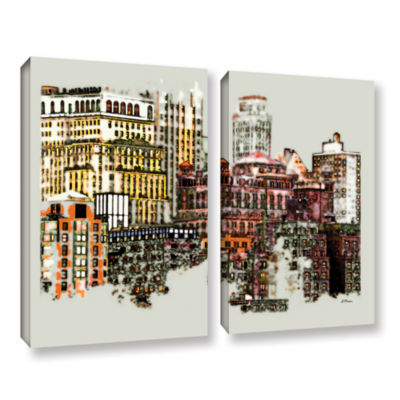Brushstone NYC Manhattan Cluster 2-pc. Gallery Wrapped Canvas Wall Art