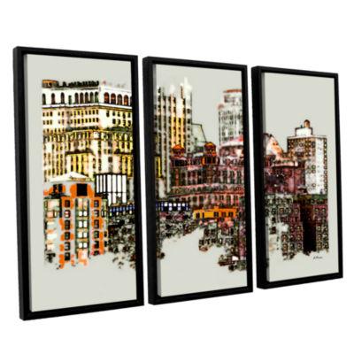 Brushstone NYC Manhattan Cluster 3-pc. Floater Framed Canvas Wall Art