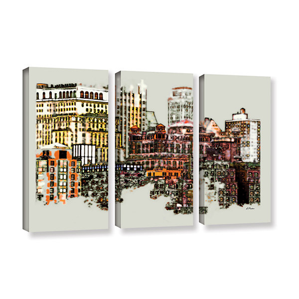 Brushstone NYC Manhattan Cluster 3-pc. Gallery Wrapped Canvas Wall Art