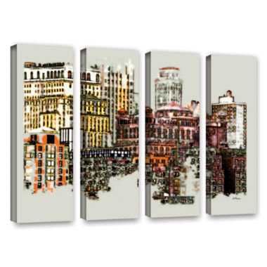 Brushstone NYC Manhattan Cluster 4-pc. Gallery Wrapped Canvas Wall Art