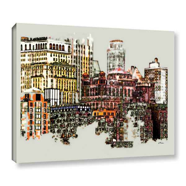 Brushstone NYC Manhattan Cluster Gallery Wrapped Canvas Wall Art