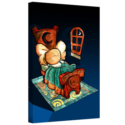 Brushstone Kid In Bed 1 Gallery Wrapped Canvas Wall Art