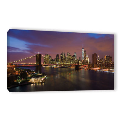 Brushstone NYC With Brooklyn Bridge Gallery Wrapped Canvas Wall Art