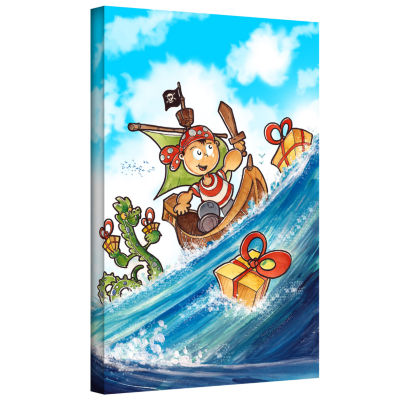 Brushstone Kid Pirate Gallery Wrapped Canvas WallArt
