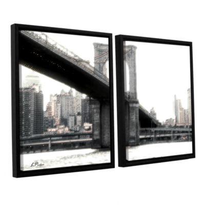 Brushstone NYC's Brooklyn Bridge 2-pc. Floater Framed Canvas Wall Art