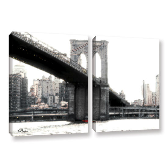 Brushstone NYC's Brooklyn Bridge 2-pc. Gallery Wrapped Canvas Wall Art