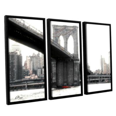 Brushstone NYC's Brooklyn Bridge 3-pc. Floater Framed Canvas Wall Art