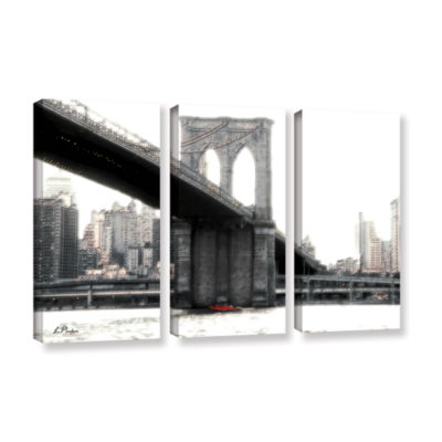 Brushstone NYC's Brooklyn Bridge 3-pc. Gallery Wrapped Canvas Wall Art
