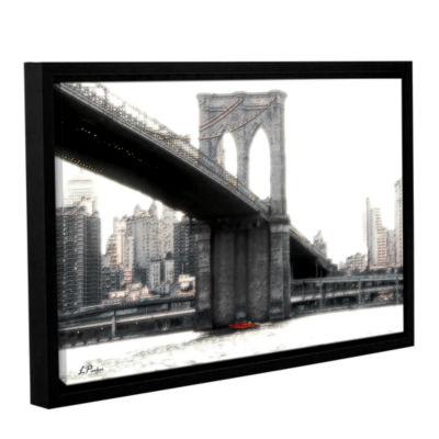 Brushstone NYC's Brooklyn Bridge Gallery Wrapped Floater-Framed Canvas Wall Art
