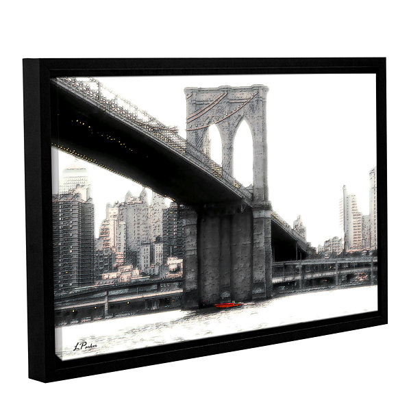 Brushstone NYC's Brooklyn Bridge Gallery Wrapped Floater-Framed Canvas Wall Art