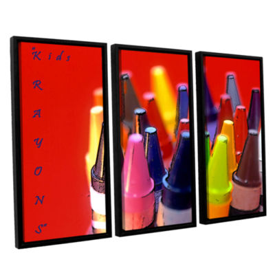 Brushstone Kids Krayons 3-pc. Floater Framed Canvas Wall Art
