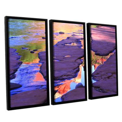 Brushstone Oak Creek Mirror 3-pc. Floater Framed Canvas Wall Art