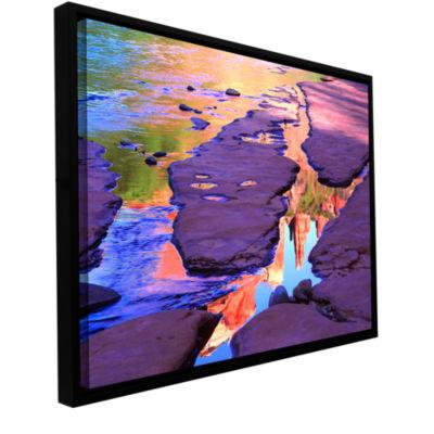 Brushstone Oak Creek Mirror Gallery Wrapped Floater-Framed Canvas Wall Art
