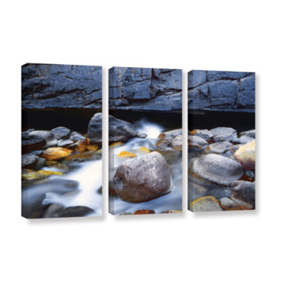 Brushstone Kings River 3-pc. Gallery Wrapped Canvas Wall Art