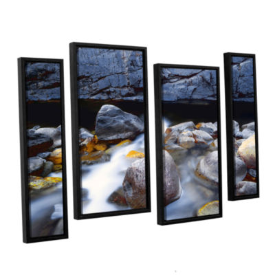Brushstone Kings River 4-pc. Floater Framed Staggered Canvas Wall Art