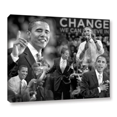 Brushstone Obama Collage Gallery Wrapped Canvas Wall Art