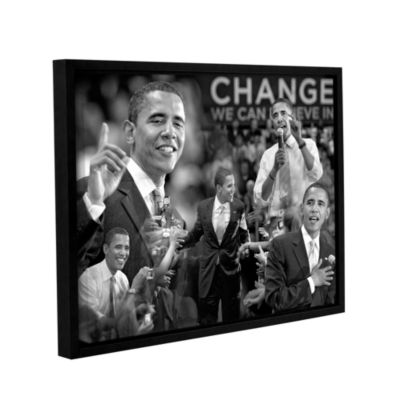 Brushstone Obama Collage Gallery Wrapped Floater-Framed Canvas Wall Art