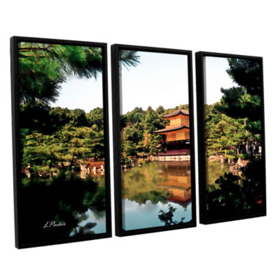 Brushstone Kinkakuji 3-pc. Floater Framed Canvas Wall Art