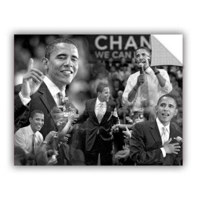 Brushstone Obama Collage Removable Wall Decal