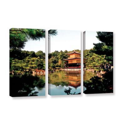 Brushstone Kinkakuji 3-pc. Gallery Wrapped CanvasWall Art