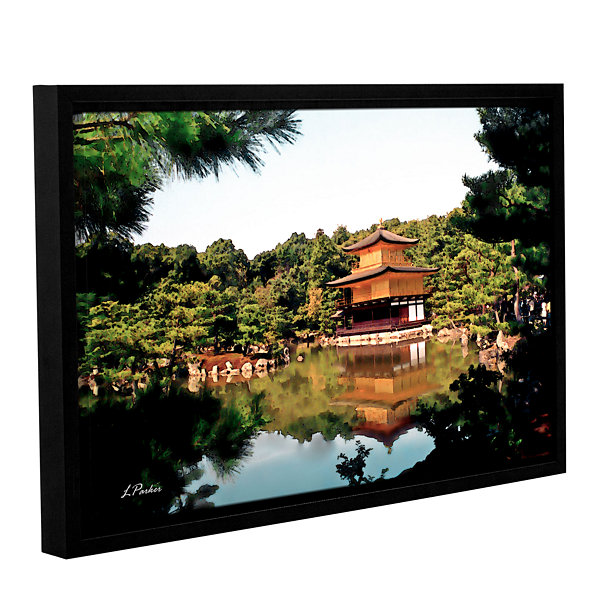 Brushstone Kinkakuji Gallery Wrapped Floater-Framed Canvas Wall Art