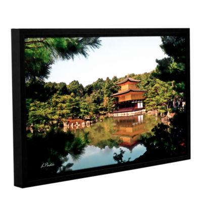 Brushstone Kinkakuji Gallery Wrapped Floater-Framed Canvas Wall Art