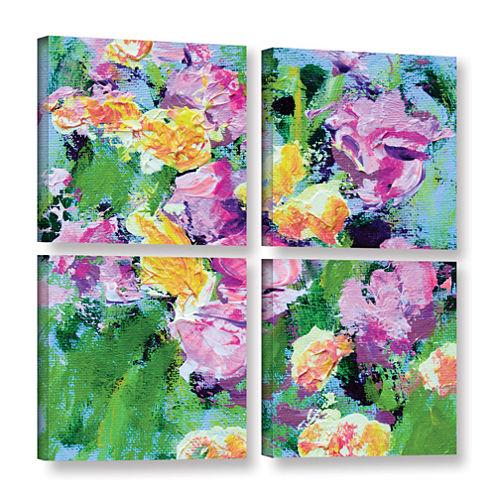 Brushstone Kirstenbosch Garden 4-pc. Square Gallery Wrapped Canvas Wall Art