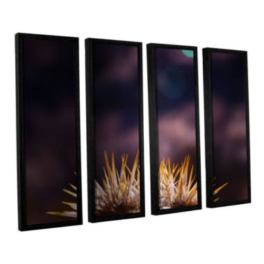 Brushstone Obviousness Has Its Advantages 4-pc. Floater Framed Canvas Wall Art