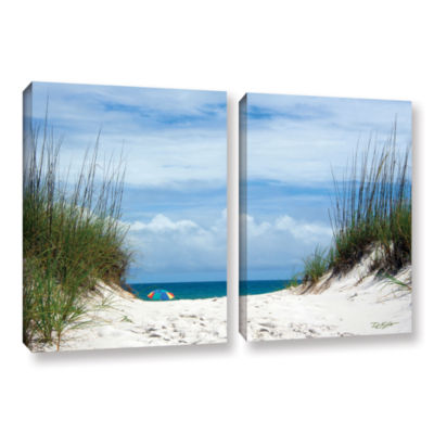 Brushstone Ocean Path 2-pc. Gallery Wrapped CanvasWall Art