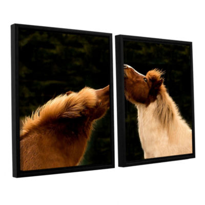 Brushstone Kissme1A 2-pc. Floater Framed Canvas Wall Art