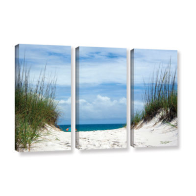 Brushstone Ocean Path 3-pc. Gallery Wrapped CanvasWall Art
