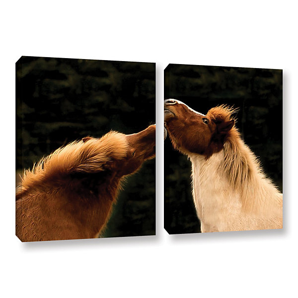 Brushstone Kissme1A 2-pc. Gallery Wrapped Canvas Wall Art