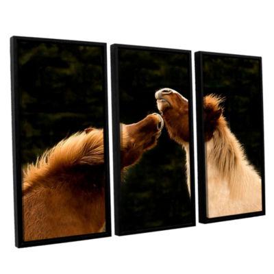 Brushstone Kissme1A 3-pc. Floater Framed Canvas Wall Art