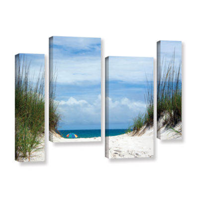 Brushstone Ocean Path 4-pc. Gallery Wrapped Staggered Canvas Wall Art