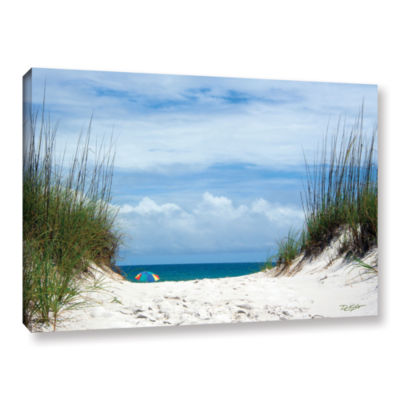 Brushstone Ocean Path Gallery Wrapped Canvas WallArt